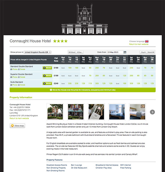 CHH-ecommerce-cms-UX Booking Site